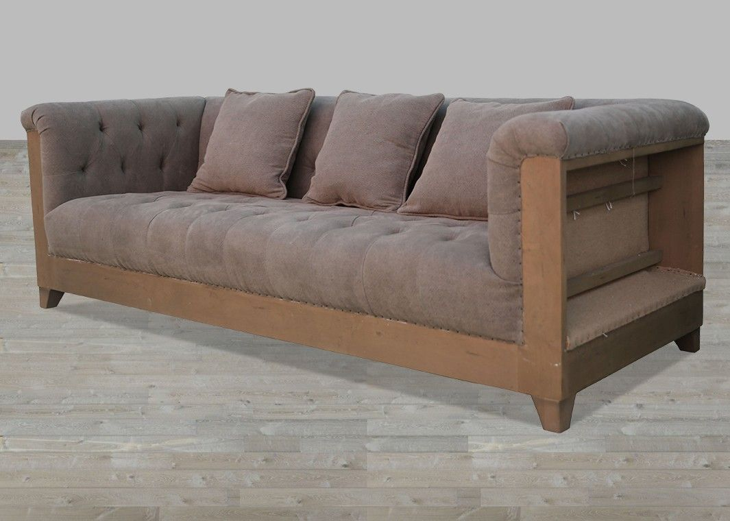 Grey Upholstered Deconstructed Sofa Sofa Fabric Sofa Affordable Living Rooms