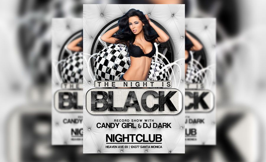 Check Out Our Newest Black Night Flyer Template! Http