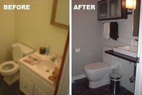 BeforeAfter Bathroom Sink Pinterest Ikea Hackers Half Baths - Ikea bathroom renovation