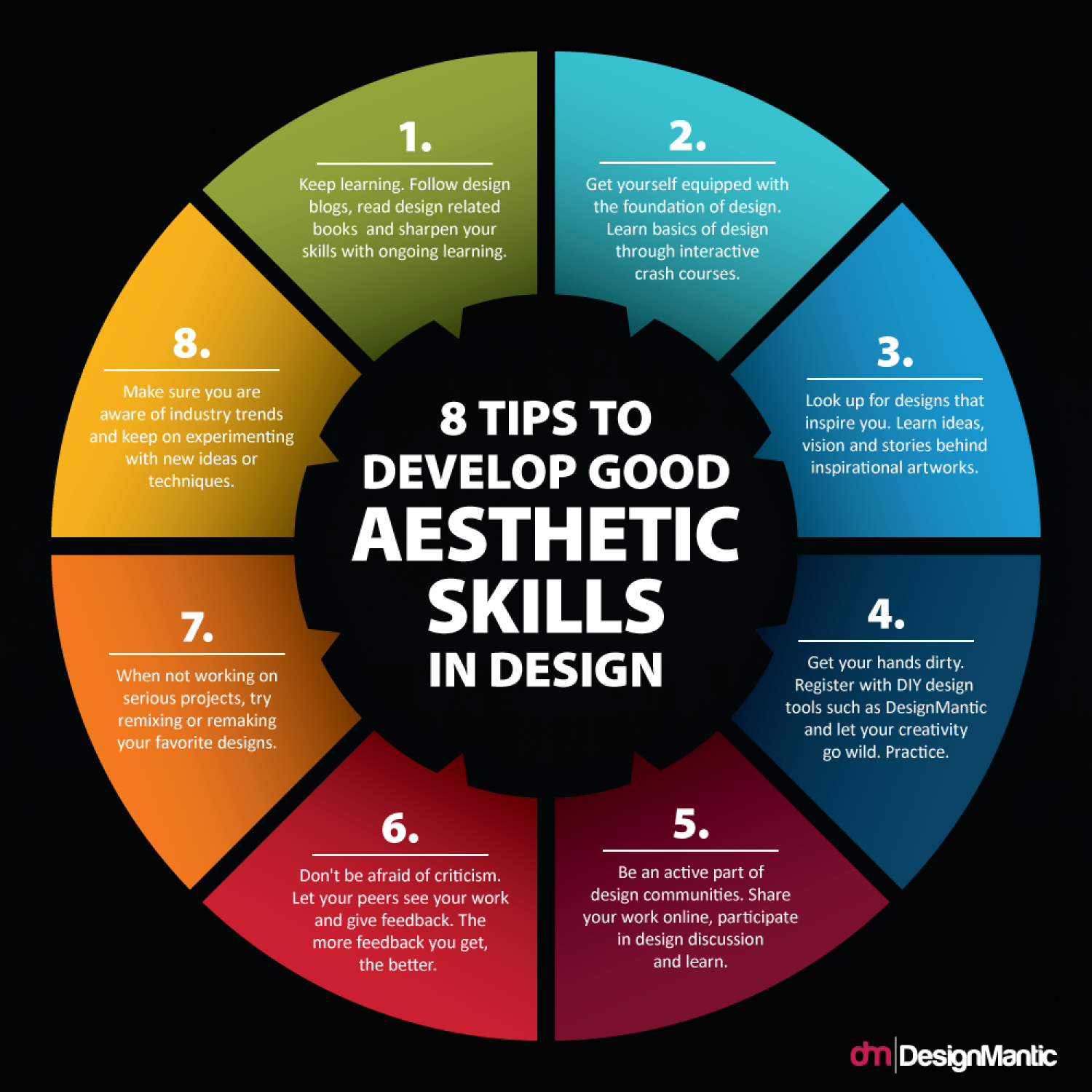 8 Tips To Develop Good Aesthetic Skills In Design Infographic Graphic Design Tips Design Design Skills