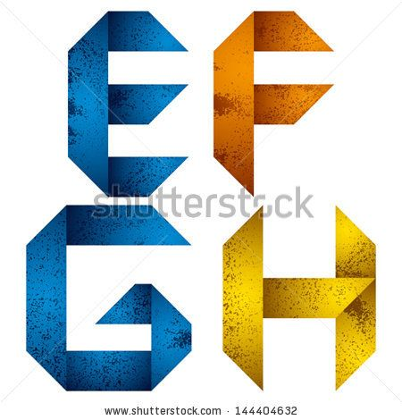 stock-vector-geometric-origami-style-font-with-old-grunge-texture-alphabet-letters-e-f-g-h-vector-144404632.jpg (450×470)