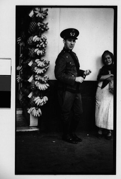 Walker Evans | [Policeman and Fruit Vendor on Street, Havana] | The Met