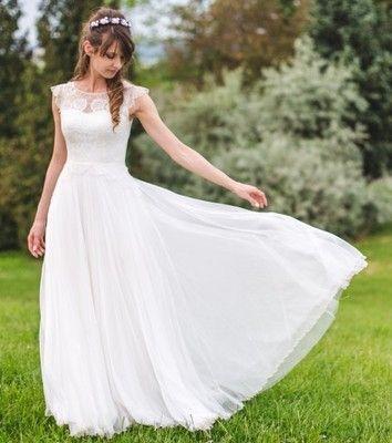 Suknia Slubna Anna Kara 34 6887514479 Oficjalne Archiwum Allegro Wedding Dresses Sleeveless Wedding Dresses