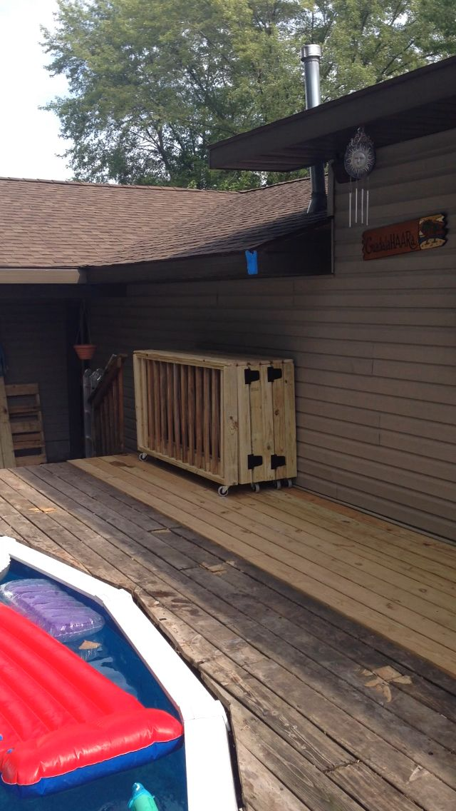 Removable Accordion Style Pool Fence.