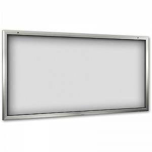 CERTEO Vitrine d'affichage pour l'intérieur et l'extérieur - ouverture porte 180° vers