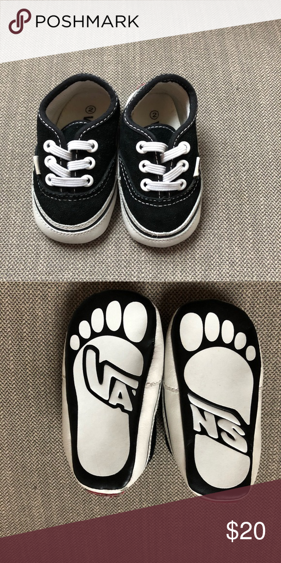 Baby Vans Crib Shoes Soft sole black