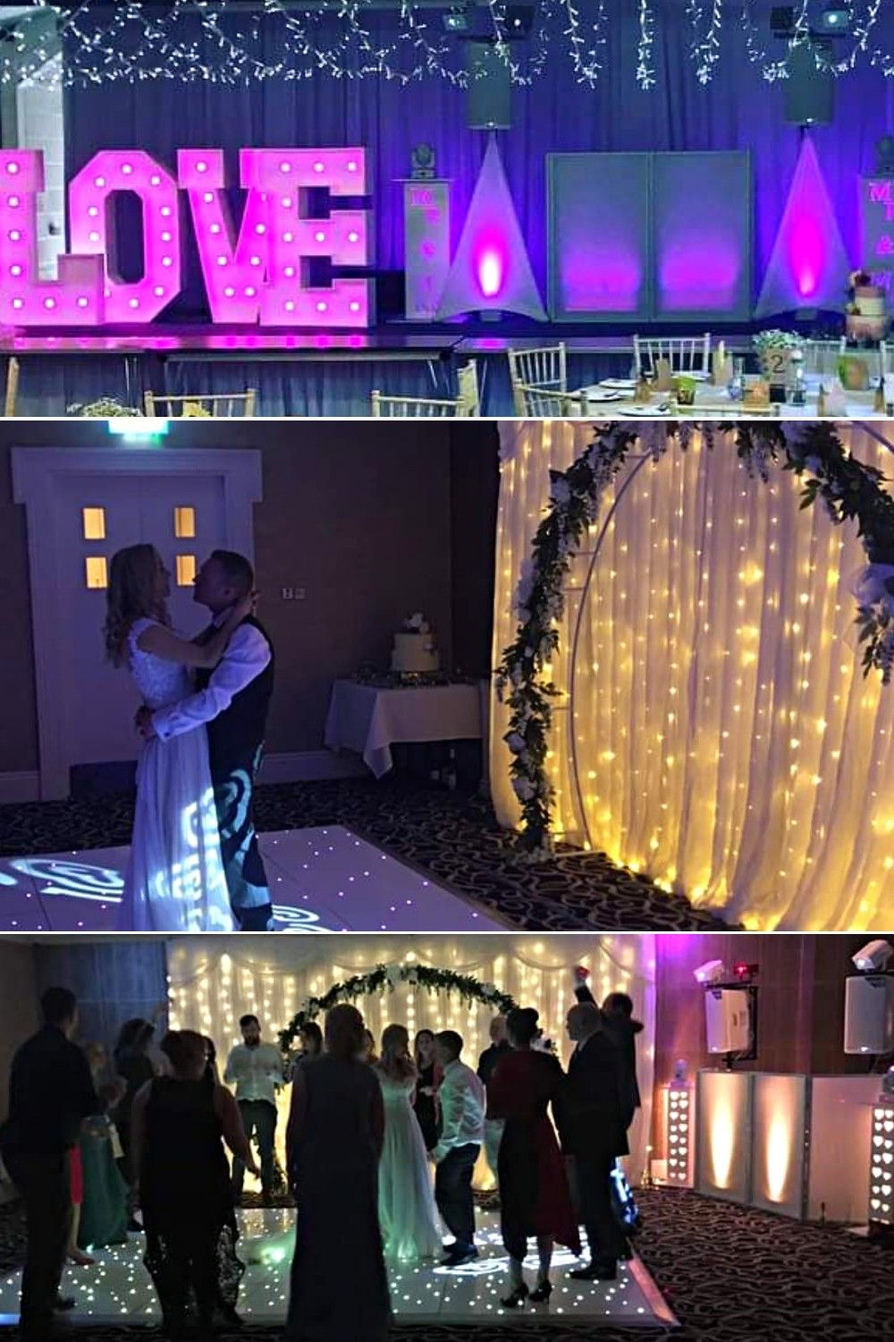 Solly's Discos will keep you and your guests happy, it's what they do best. Their aim is to set the perfect atmosphere, creating a fun, lively and unforgettable wedding that will leave you and your guests with the most amazing memories ever! #wedding #weddingdj #ukweddingparty #weddingdisco #weddingentertainment #loveletters #lightupletters #weddingreceptionideas #weddingimages #weddingideas #weddingdirectory #fairytaleweddingplanningintheuk #bridesideas #weddingphotos