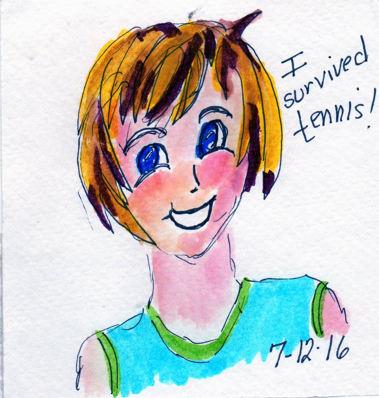 anime style self portrait by linda giese