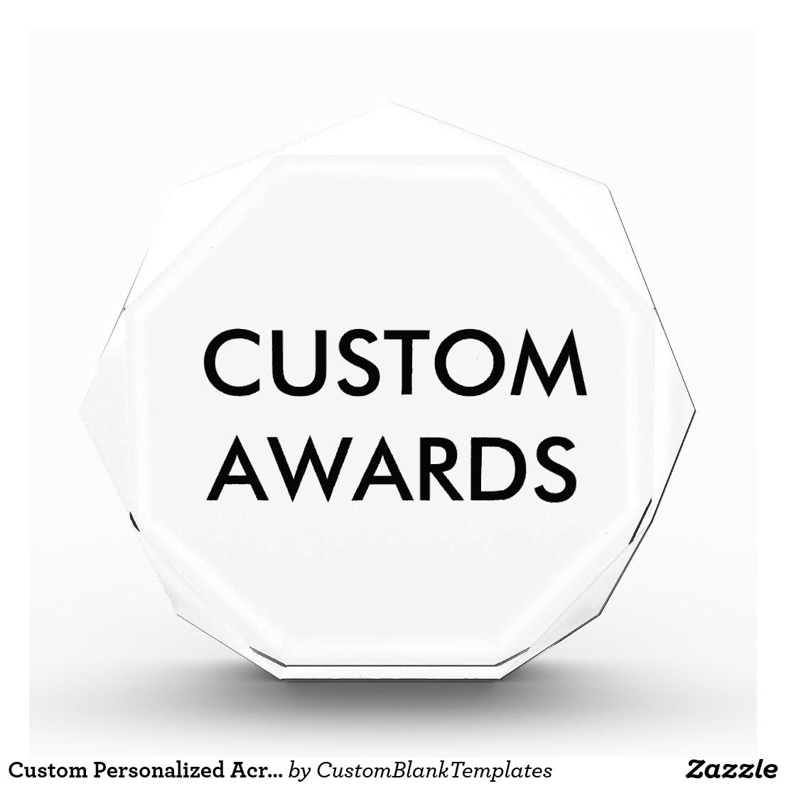 Custom Personalized Acrylic Award Blank Template | Custom ...