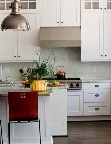Sea Green Backsplash Tile Light Cabinets New Stools Grey