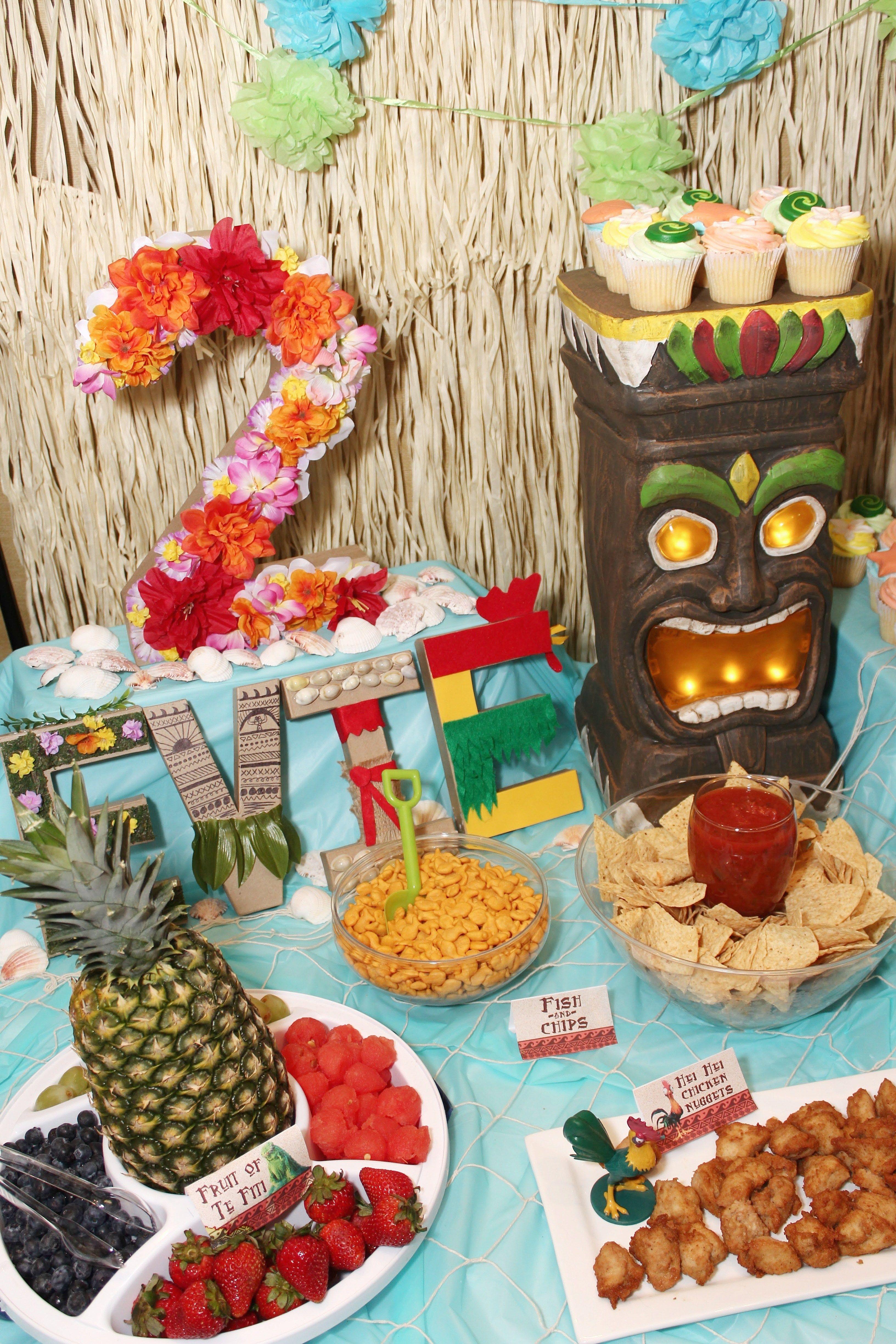 Moana Birthday Party Ideas Food MenuFood