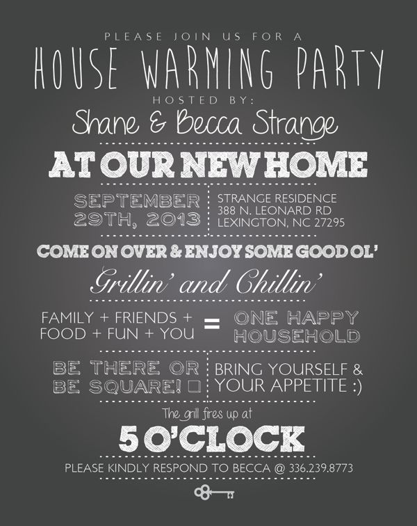HouseWarming Invitations typography junkie Design in Graphic