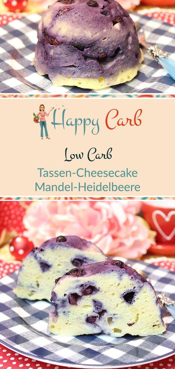Tassen-Cheesecake Mandel-Heidelbeere #lowcarbdesserts