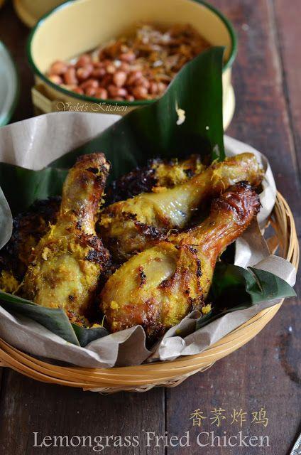 Kitchen Fryer Wrought Iron Sets Violet S 紫羅蘭的爱心厨房 香茅炸鸡 Lemongrass Fried Chicken 空气炸锅版 Air Version