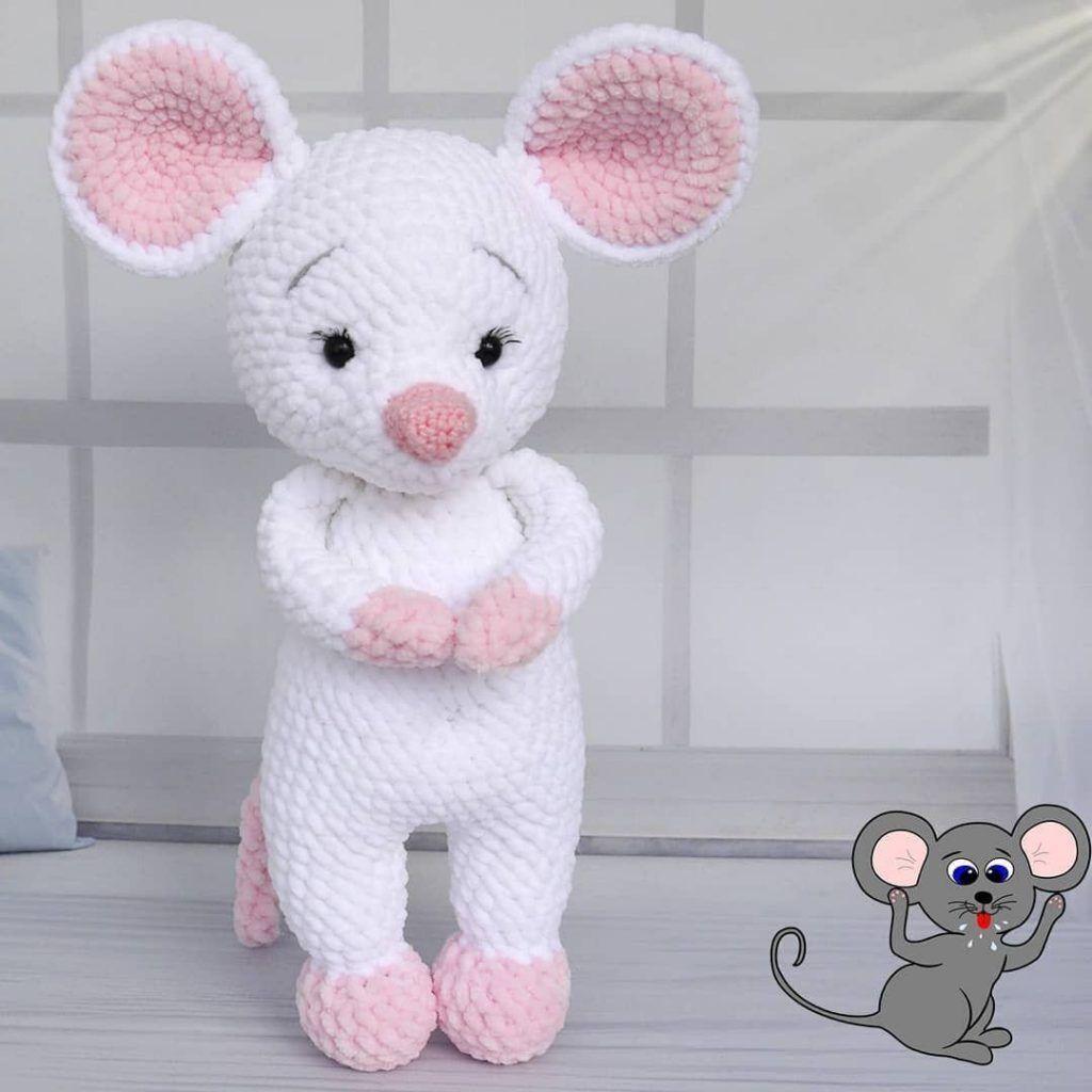 Amigurumi Mice Rata Bailarina Crochet Free Pattern