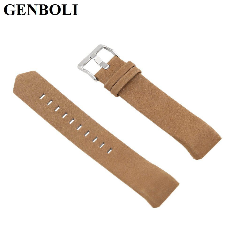 Click to buy ucuc genboli colors genuine leather wrist band watch