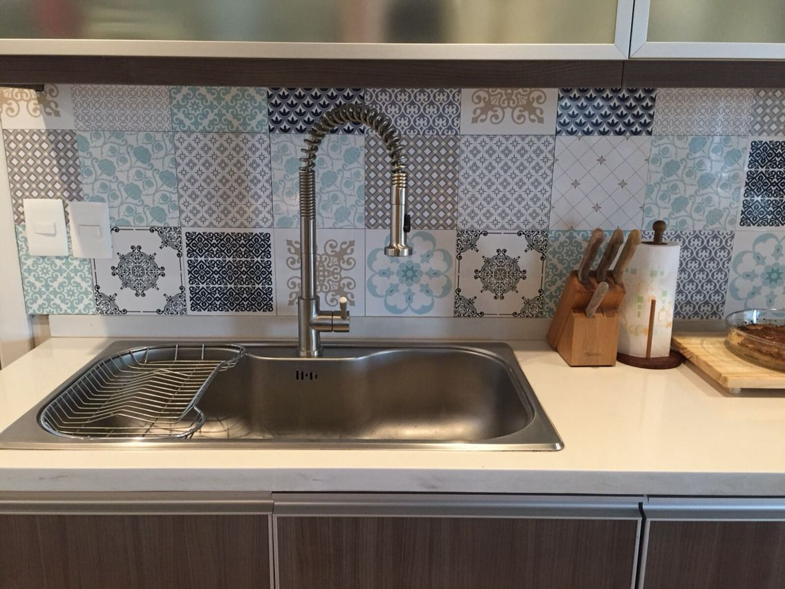 Kitchen tiles! We love to play combinations