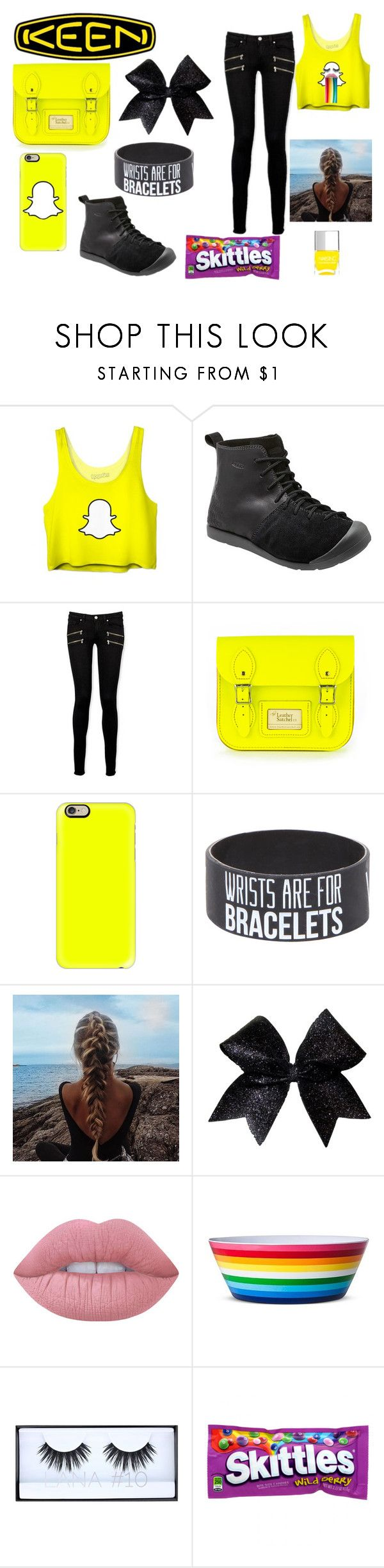 """""""So Fresh and So Keen: Contest Entry"""" by kyra-warren on Polyvore featuring Keen Footwear, Paige Denim, Casetify, Lime Crime, Huda Beauty, Nails Inc. and keen"""