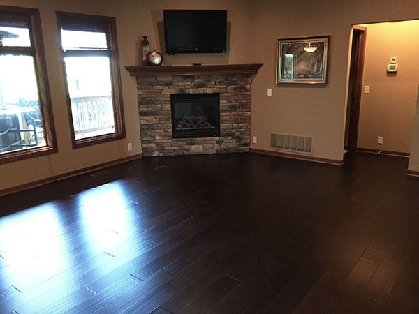 Silverado Stout installation in Omaha NE. These Engineered Hardwood Floors by Hallmark Floors were purchased through Lockwood Flooring and installed by Gautsche & Sons Contractors, LLC.