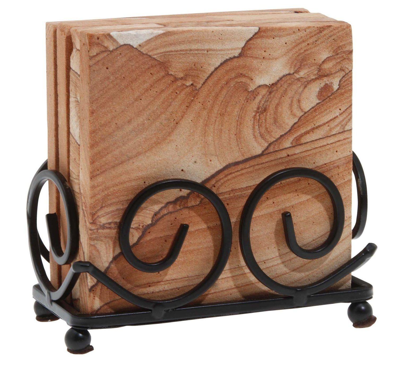 Amazon Com Thirstystone Dark Iron Upright Scroll Coaster Holder  # Muebles Coaster
