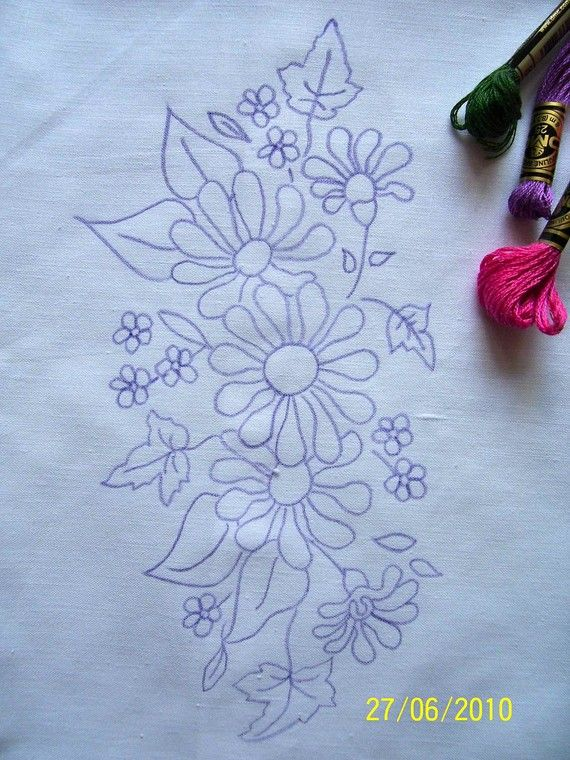 Hand Embroidery Pillow Case To Embroider Embroidery Design Adorable Pillow Cover Hand Embroidery Designs