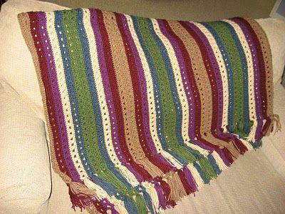 Crossed Double Crochet Afghan