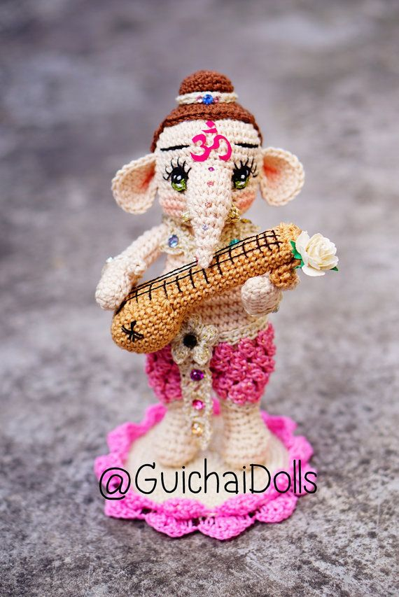 Lord Ganesha Kid Serenade Mandolin By Guichai On Etsy Haken