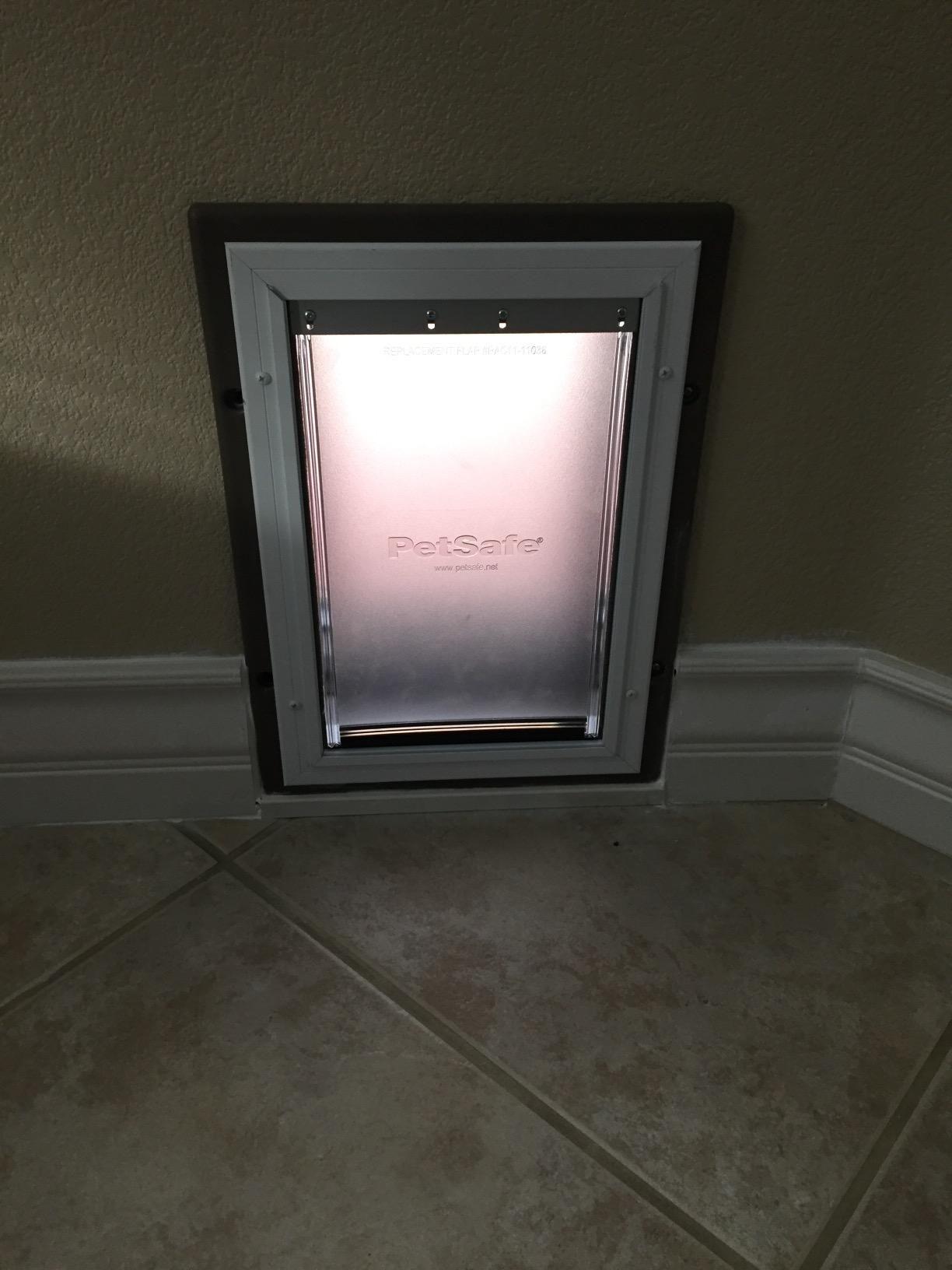 The Petsafe Wall Entry Pet Door Allows You To Install Your New Pet Door Into An Interior Or Exterior Wall Instead Of A Dog Door Automatic Dog Door Royal Doors