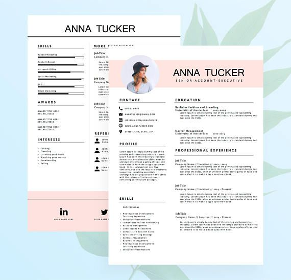 Modern Resume Template  Cv Template Professional And  Ahoiho