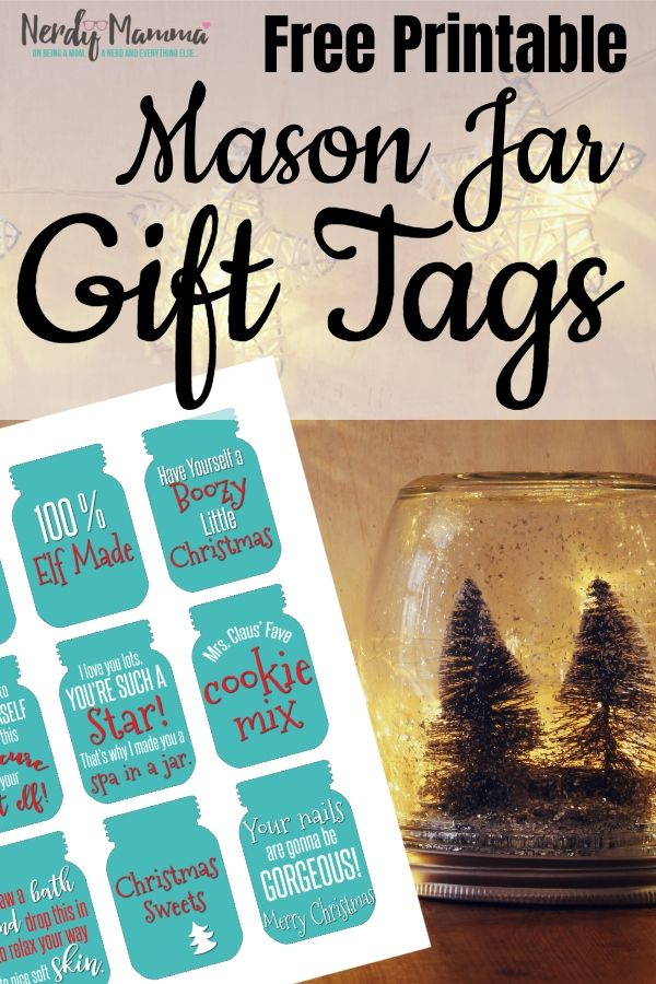 Free Printable Mason Jar Gift Tags is part of Mason jar gift tags, Mason jar christmas gifts, Mason jar gifts, Christmas gift tags printable, Jar gifts, Mason jar tags - (Inside I needed some gift tags to go with some gifts I was making   since the gifts were in mason jars, well, I needed Mason Jar Gift Tags  And I've made them Free Printable Mason Jar