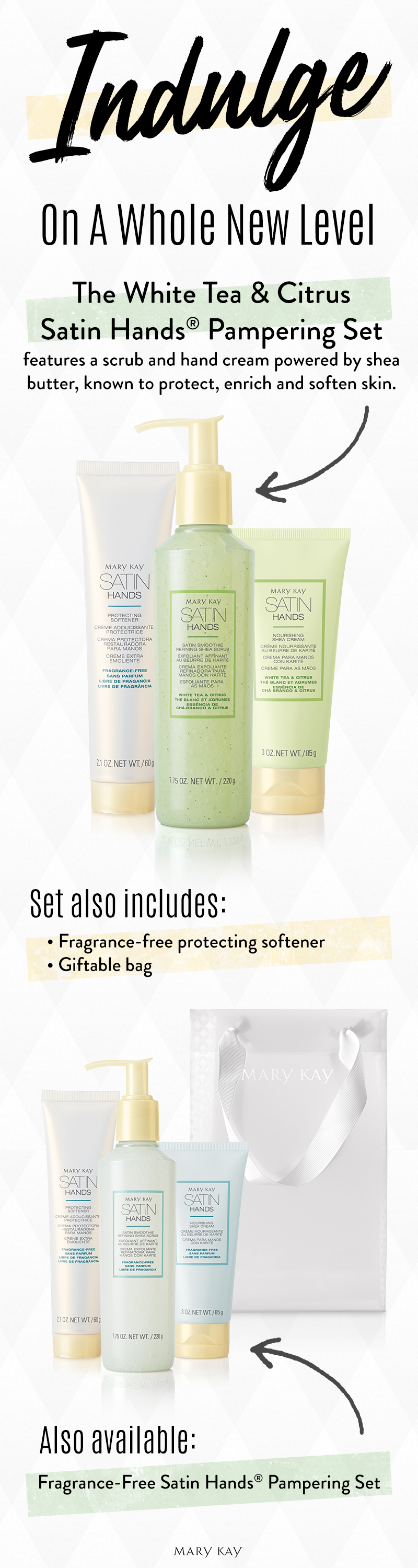 Experience The Bliss Fragrance Free Satin Hands Pampering Set