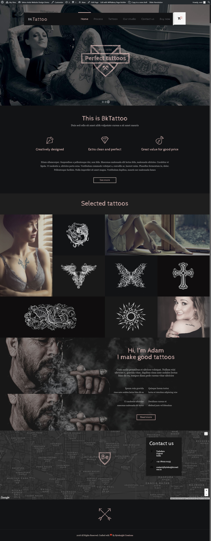 Tattoo Artist Website Design Demo Tattoo Artist Websitedesigns