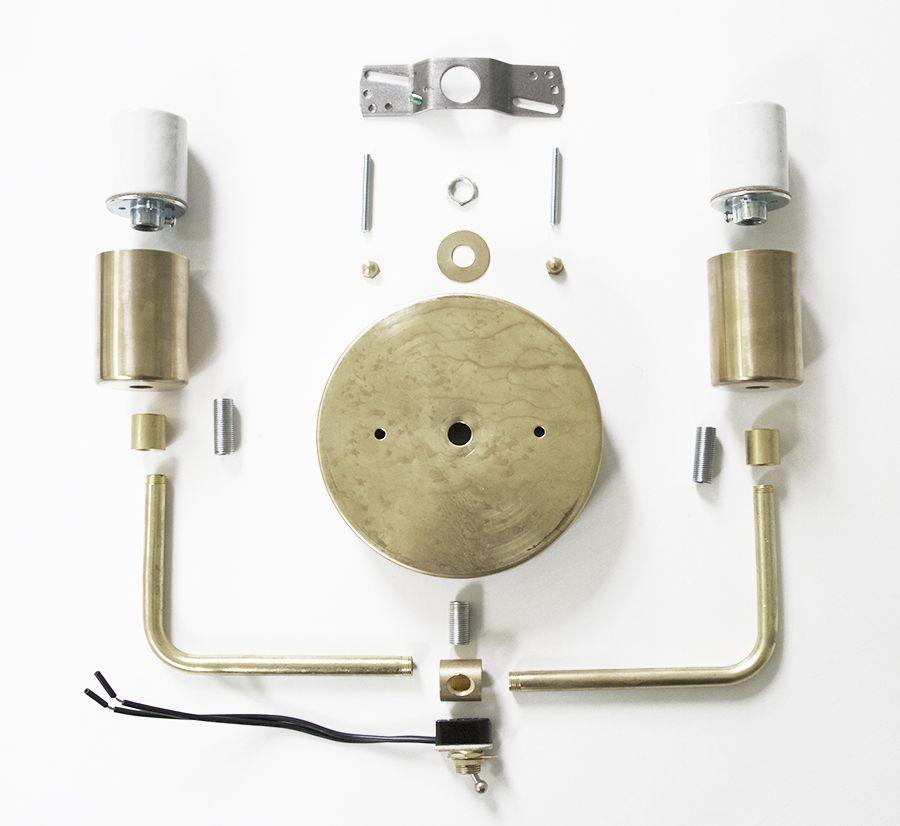 Diy Light Fixture Brass Sconce Diy Light Fixtures Diy Lighting Brass Sconce