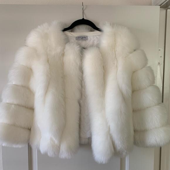 Azurra Dubai Faux Fur Coat Fur Coat White Faux Fur Jacket White Fur Jacket