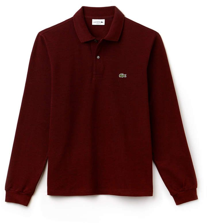d25ae856fbfd3e classic fit long-sleeve Polo Shirt in marl petit piqué in 2018 ...