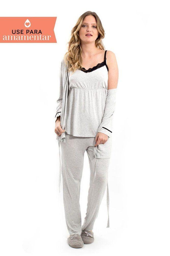 440d1ae15 Pijama para amamentar que é perfeito para o pós parto. Toque macio e super  confortável