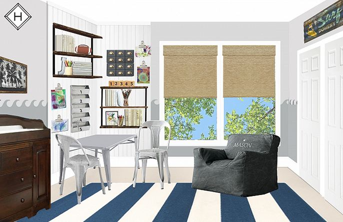 """another view of john's """"surf shack"""" beach theme toddler boy room, c/o @thehavenly, and i cant wait to make the design come to life! #homedecor"""