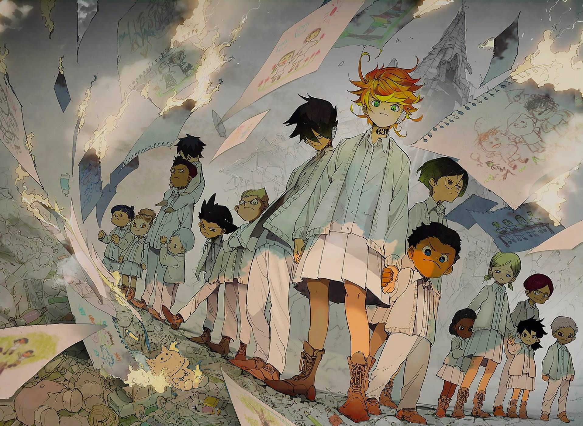 Japan Anime The Promised Neverland Grace Field Tattoo Stickers Ray Emma Norman