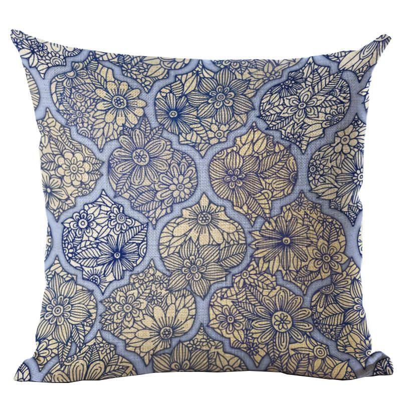 Tile Art Throw Pillow Cover - 18 patterns