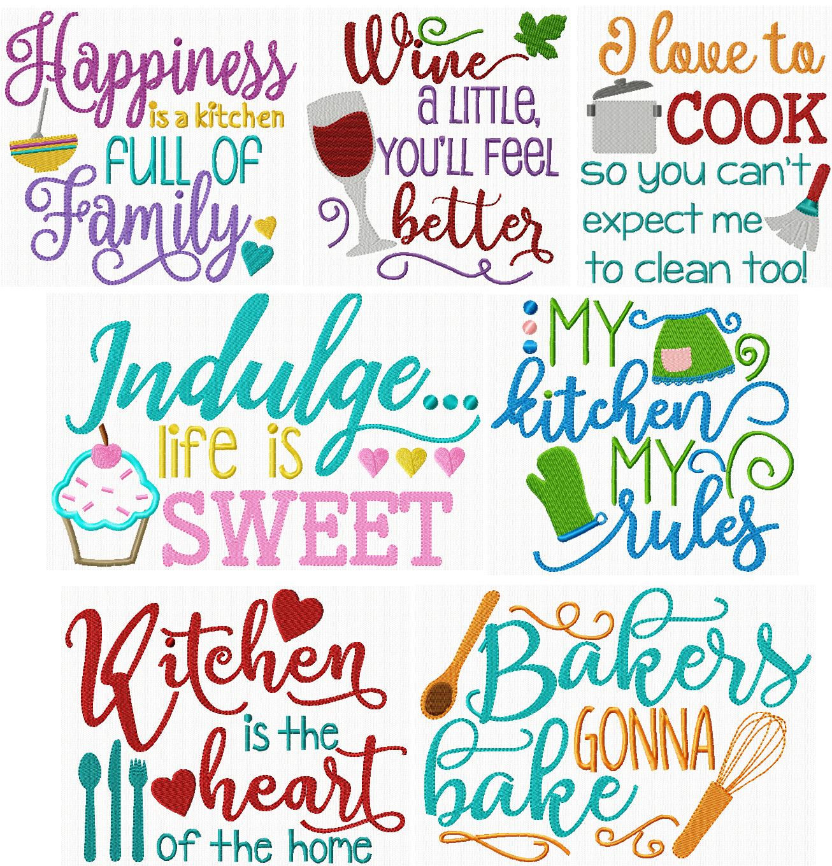 Kitchen Sayings II | Vinyl - Home Sweet Home | Embroidery ...