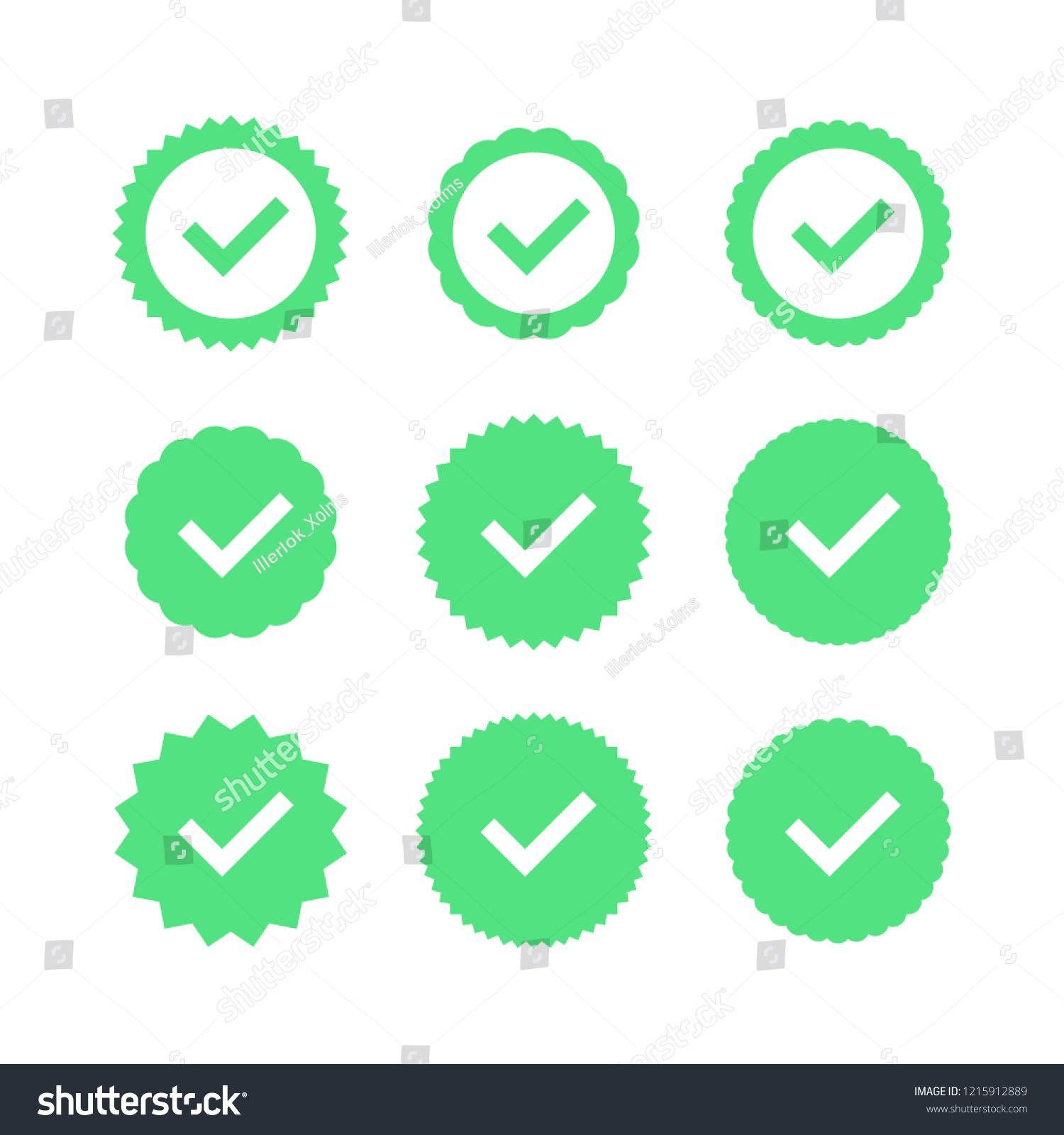 Approved icon. Profile Verification. Accept badge. Quality