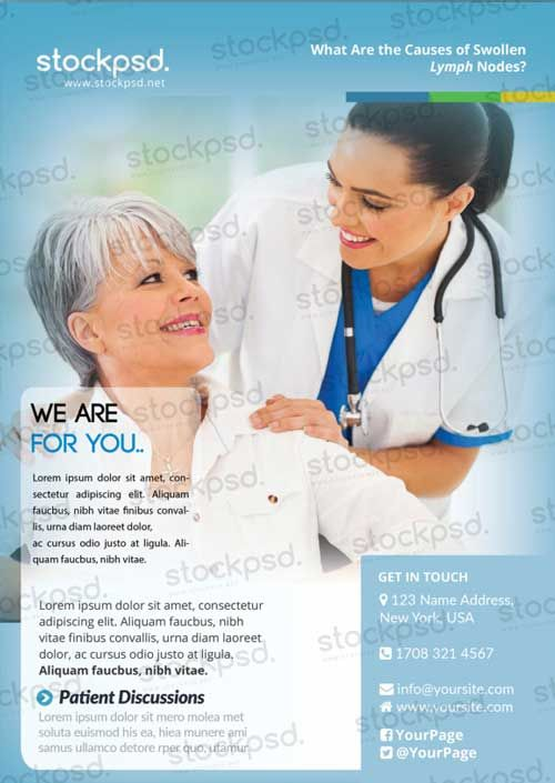Medical Health Care Free PSD Flyer Template Afis Transmed - Healthcare brochure templates free download