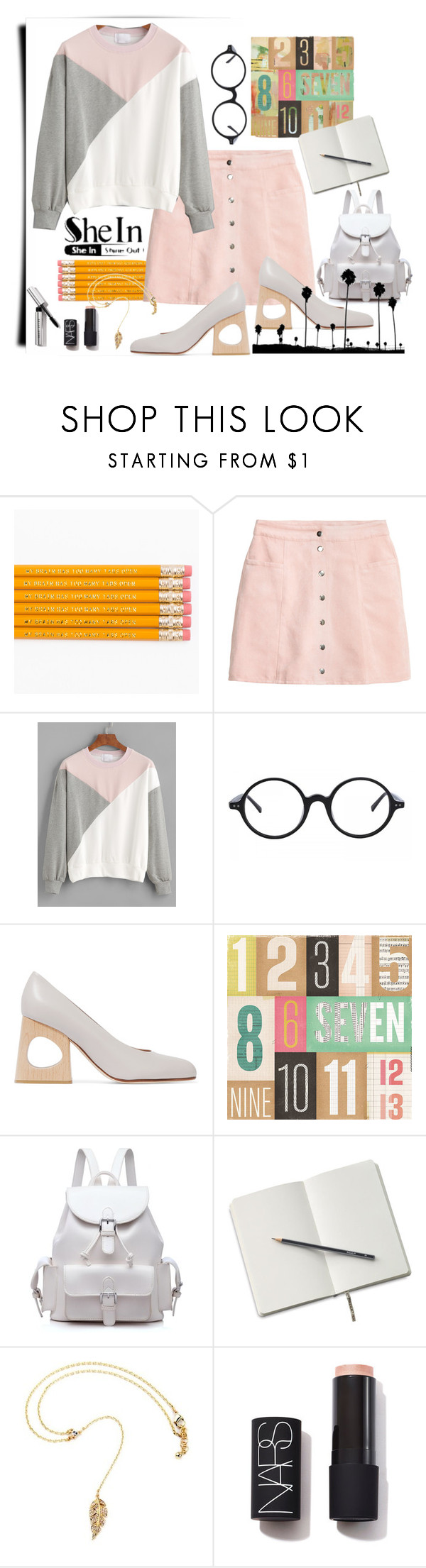 """Untitled #161"" by aurora8918 ❤ liked on Polyvore featuring H&M, Marni, NARS Cosmetics and Bobbi Brown Cosmetics"