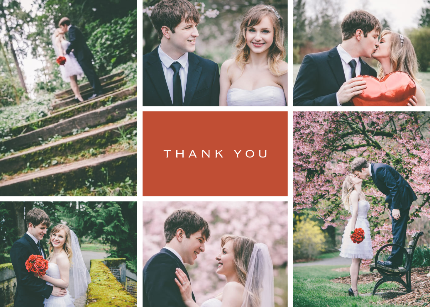 Centered Thank You | Wedding, Engagement inspiration and Invitation ...