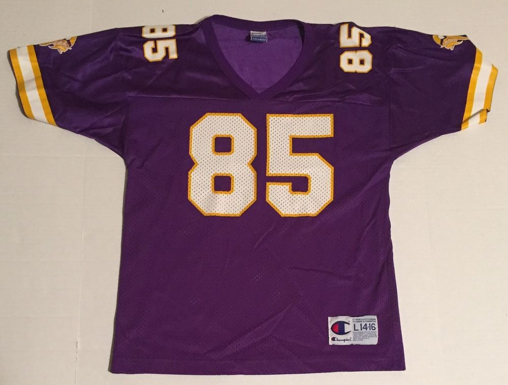 Vtg Minnesota Vikings Jim Kleinsasser 85 Youth 14 16 Champion ...