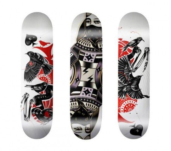 skate board design 15 550x485 Design on Wheels 100+ Seriously Awesome Skateboard Prints