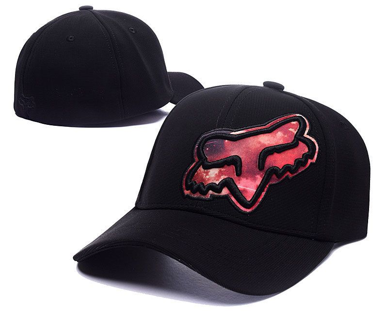 big sale dec77 50463 Men s   Women s Fox Racing Flex 45 Flexfit Galaxy Fox Head Logo Adjustable  Hat - Black   Fire