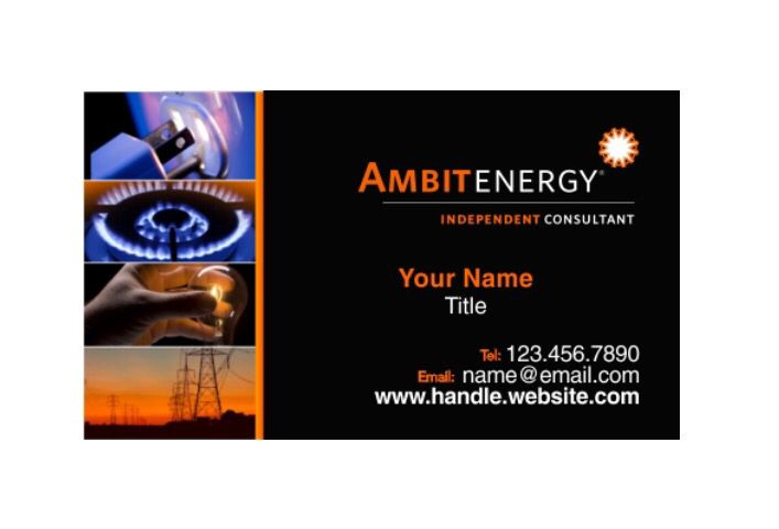 Carte De Visite Ambit Energy Business Cards 35 1000 Full Color