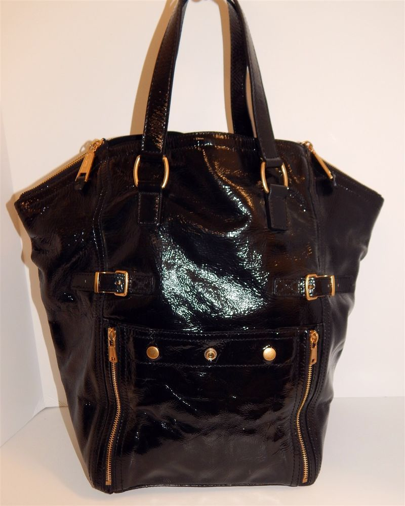 337d0f272c0 Yves Saint Laurent YSL Black Patent Leather Downtown Large Tote Bag   fashion  clothing  shoes  accessories  womensbagshandbags (ebay link)