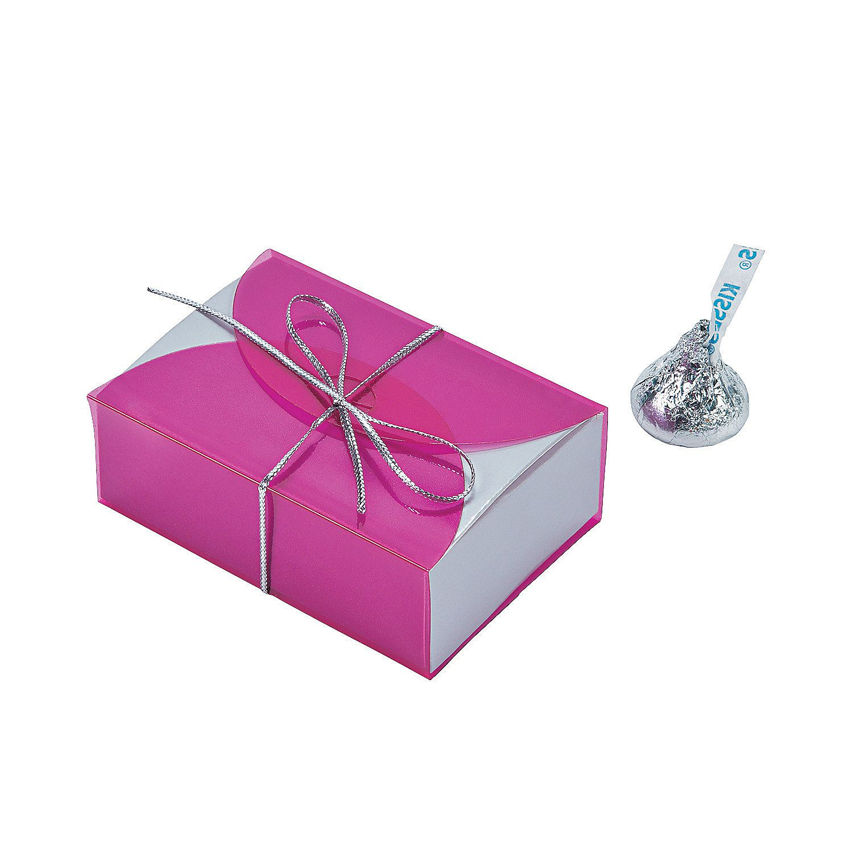 Hot Pink Vellum Favor Boxes - OrientalTrading.com | Oriental Trading ...